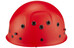 Edelrid Ultralight klimhelm Kinderen rood